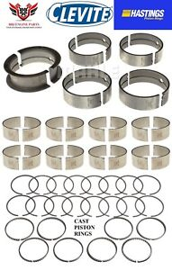 Clevite Dodge Chrysler 383 1959 1971 Rod Main Bearings With Hastings Rings