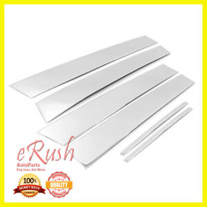 For 2011 2017 Chrysler 300 300c Chrome B pillar 6pcs Pillar Post Stainless Steel