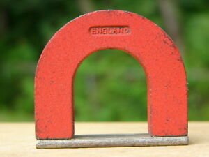 Alnico 5 Horseshoe Magnet Red 16 Oz 48 Lb Pull General