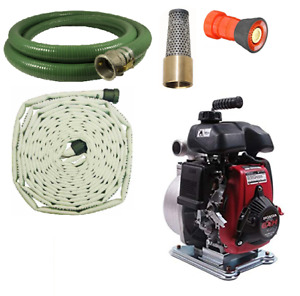 Koshin Firefighting Pump Kit With 100 Attack Fire Hose And Foot Valve W Nozzle