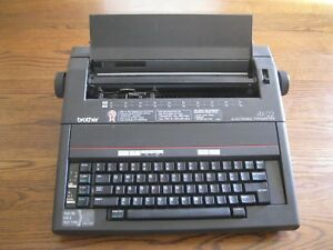 Portable Brother Electronic Typewriter Model Ax 22 Used