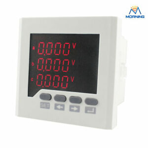 3d7 80 80mm Ammeter Voltmeter Ac Led 3 Phase Digital Multimeter Industrial Usage