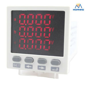 3d8 45 45mm Ammeter Voltmeter Led Three phase Digital Multifunction Meter