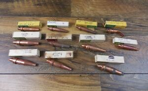 Vintage Victor Oxygen Acetylene Cutting Torch Tips Assorted Lot Of 11 In Boxes