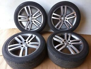 2007 Audi Q7 20 Alloy Wheel Set With Tires 275 45r20 Continental Oem