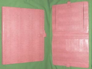 Monarch Note Pad Pink Reptile S Leather Franklin Covey Planner 8 5x11 Binder