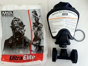 New Msa Safety Ultra Elite Respirator Facepiece With Twin cartridge Adapter
