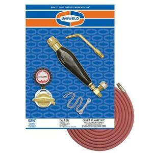 Uniweld K37 Air acetylene Soft Flame Kit For B Tank With Th3 Handle And S23