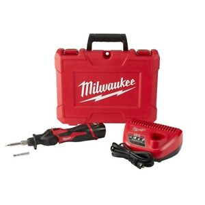 Cordless Solder Soldering Iron Milwaukee M12 With Battery With Case 12v