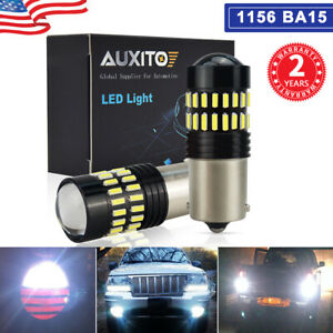 2x 1156 Ba15 5008 Led Backup Reverse Light Bulb Hd Projector For Car Suv Truck F