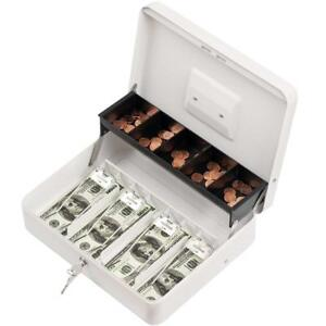 Cash Box Cash Box With Money Tray Durable Large Steel Cash Boxes 5 Tray 4 2