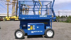 Upright 27xrt 34 Reaching Height Large Platform Scissor Lift