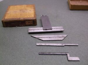 Vintage The Lufkin Rule No 138cx Adjustable Die Makers Square Attachments 4
