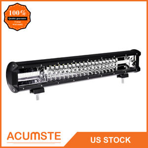 18inch 540w Cree Led Work Light Bar Flood Spot Suv Boat Driving Lamp Offroad 4wd