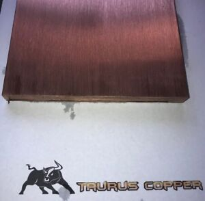 1 2 Thick X 6 Wide X 6 Long Flat Copper Bar Stock C110