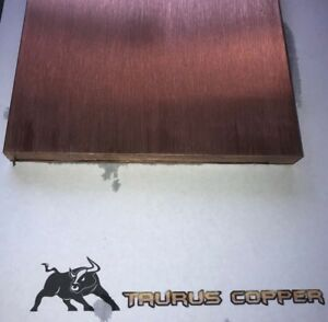 1 2 Thick X 6 Wide X 4 Long Flat Copper Bar Stock C110