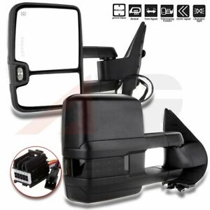 Towing Power Heated Led Signal Light Clearance Mirror For Chevy Gmc 2007 2013