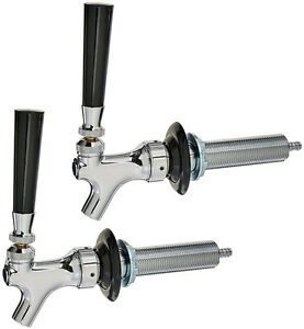 2 Pack Draft Tap Beer Tower Kegerator Chrome Faucet 4 Shank Kit With Handle