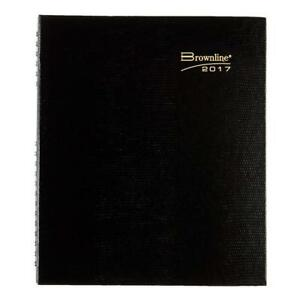 Brownline Coilpro Weekly 2017 Planner Black Hard Cover Twin wire 8 5 X 6 75
