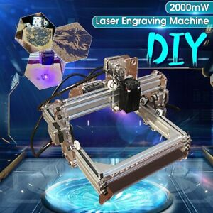 2000mw 17x20cm 12v Laser Engraving Mini Engraver Cutter Desktop Printer Machine