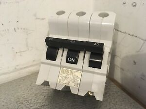 Federal Pioneer Type Na nb Lr12188 40 Amp 3 Pole Circuit Breaker Good Cond