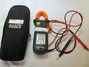 Klein Tools Cl200 Ac Clamp Meter With 2 Test Leads And Klein Tools Case