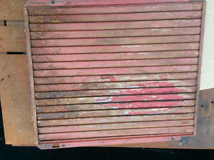Farmall H Super H Tractor Front Radiator Shutters Louvers