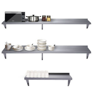 Durable Stainless Steel Wall Mountable Kitchen Shelf For Restaurants Businesses