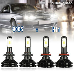 9005 H11 Total 2000w 300000lm Fanless Led Headlight Kit Hi lo Beam Light Bulbs