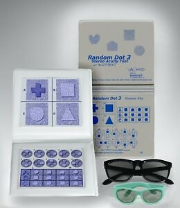 Stereo Random Dot 3 Acuity Test Lea Symbols Adult Child Goggles Ship From Us