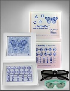 Stereo Butterfly Acuity Test With Adult Child Goggles Ship From Usa