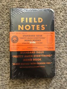 Field Notes Pretty Much Everything Memo Books New Sealed Free Shipping
