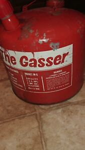 Vintage Eagle the Gasser 5 Gallon Galvanized Metal Gas Can With Spout