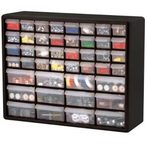 Hardware Storage Cabinet Bins Organizer Crafts Parts Supplies Drawers Stackable