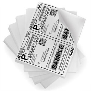 8 5x5 5 Shipping Labels Half Sheet Self Adhesive Postage Labels Paypal Usps Ups