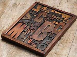 Unique Collage Composition Letterpress Wood Type Characters Drawer Awesome