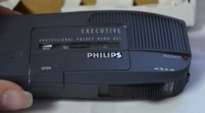Philips Dictation Professional Executive Cassette Pocket Memo 491 System