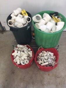 Lot Pvc Pipe Fittings 4 3 2 1 1 2 Over 338 Fittings