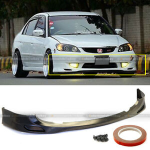 For 04 05 Civic 2 4dr Jdm Style Poly Urethane Front Bumper Lip Body Kit