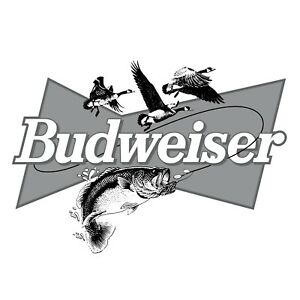 Budweiser Beer Hunting Fishing Decal Sticker Car Truck Window Bumper Laptop Wall