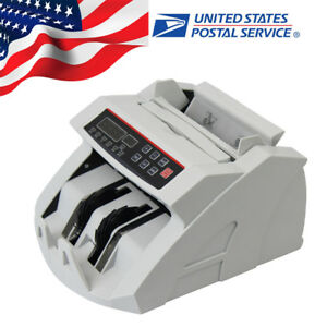 Money Bill Currency Counter Counting Machine Counterfeit Detector Uv Mg Us Ship