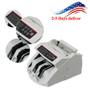 Money Bill Currency Counter Counting Machine Counterfeit Detector Cash Register