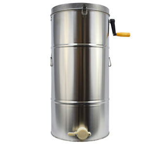 Honey Extractor Beekeeping Machine Bee Frame Stainless Steel Large Drum Us Only