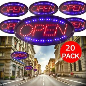 Bright Animated Led Open Store Shop Business Sign Neon Display Lights 48 25cm Ek
