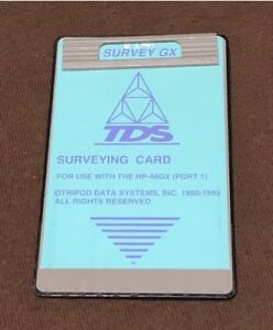 Tds Surveying Gx Card For Hp 48gx Data Collector