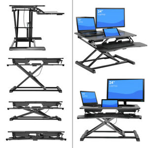 Sorbus Standing Desk Height Adjustable Sit to stand Monitor Desk Black