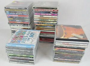 Lot Of 69 Empty Music Cd Jewel Cases With Artist Inserts Artwork Preowned
