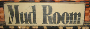 Primitive Country Mud Room Antique White 12 X 3 5 Sign