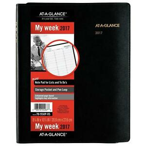 At a glance Weekly Appointment Book planner 2017 Plus Writing Pad 8 1 4 X