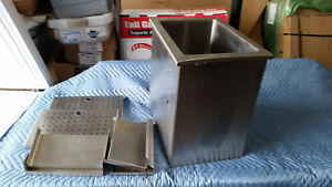Stainless Steel Drop in Ice Bin Medium Size